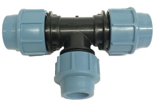PE Kupplung PE-Rohren Verbindung Fitting reduziert 20mm x 16mm Druck 10 bar 20-B